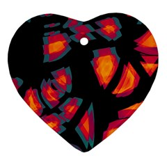 Hot, Hot, Hot Heart Ornament (2 Sides) by Valentinaart