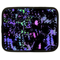 Think Blue Netbook Case (large) by Valentinaart