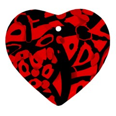 Red Design Ornament (heart)  by Valentinaart