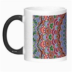 Abstract Painting Mandala Salmon Blue Green Morph Mugs by EDDArt