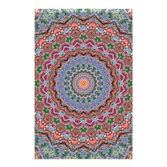 Abstract Painting Mandala Salmon Blue Green Shower Curtain 48  X 72  (small)  by EDDArt