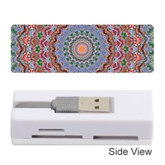 Abstract Painting Mandala Salmon Blue Green Memory Card Reader (stick)  by EDDArt