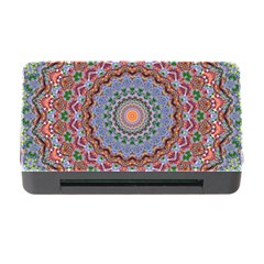 Abstract Painting Mandala Salmon Blue Green Memory Card Reader With Cf by EDDArt