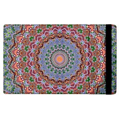 Abstract Painting Mandala Salmon Blue Green Apple Ipad 3/4 Flip Case by EDDArt