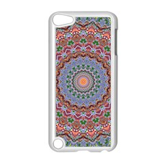 Abstract Painting Mandala Salmon Blue Green Apple Ipod Touch 5 Case (white) by EDDArt