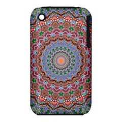 Abstract Painting Mandala Salmon Blue Green Apple Iphone 3g/3gs Hardshell Case (pc+silicone) by EDDArt