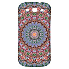 Abstract Painting Mandala Salmon Blue Green Samsung Galaxy S3 S Iii Classic Hardshell Back Case by EDDArt