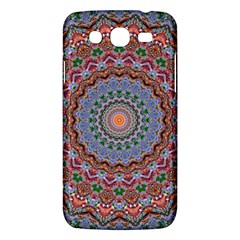 Abstract Painting Mandala Salmon Blue Green Samsung Galaxy Mega 5 8 I9152 Hardshell Case  by EDDArt