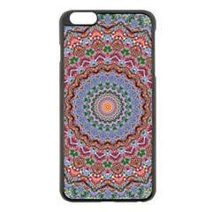 Abstract Painting Mandala Salmon Blue Green Apple Iphone 6 Plus/6s Plus Black Enamel Case by EDDArt
