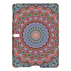 Abstract Painting Mandala Salmon Blue Green Samsung Galaxy Tab S (10 5 ) Hardshell Case  by EDDArt