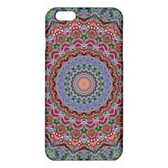 Abstract Painting Mandala Salmon Blue Green Iphone 6 Plus/6s Plus Tpu Case by EDDArt