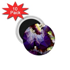 Purple Abstract Geometric Dream 1 75  Magnets (10 Pack)  by DanaeStudio
