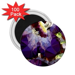Purple Abstract Geometric Dream 2 25  Magnets (100 Pack)  by DanaeStudio