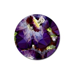 Purple Abstract Geometric Dream Rubber Round Coaster (4 Pack)  by DanaeStudio