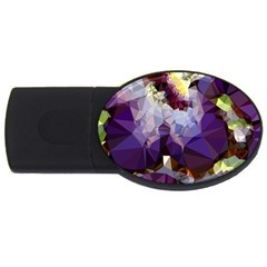Purple Abstract Geometric Dream Usb Flash Drive Oval (2 Gb)  by DanaeStudio