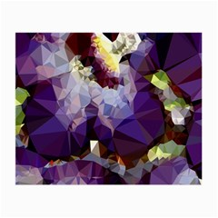Purple Abstract Geometric Dream Small Glasses Cloth (2 Side) by DanaeStudio