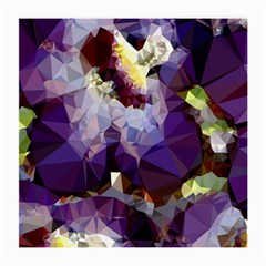 Purple Abstract Geometric Dream Medium Glasses Cloth (2 Side) by DanaeStudio