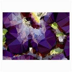 Purple Abstract Geometric Dream Large Glasses Cloth by DanaeStudio