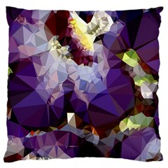 Purple Abstract Geometric Dream Large Cushion Case (two Sides) by DanaeStudio