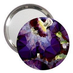 Purple Abstract Geometric Dream 3  Handbag Mirrors by DanaeStudio