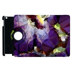 Purple Abstract Geometric Dream Apple Ipad 3/4 Flip 360 Case by DanaeStudio