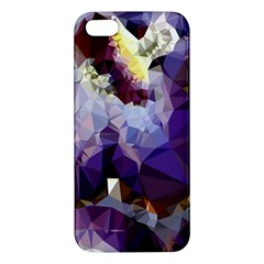 Purple Abstract Geometric Dream Iphone 5s/ Se Premium Hardshell Case by DanaeStudio