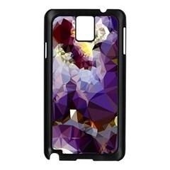 Purple Abstract Geometric Dream Samsung Galaxy Note 3 N9005 Case (black) by DanaeStudio