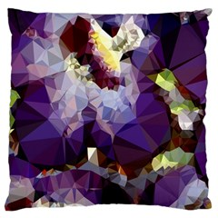 Purple Abstract Geometric Dream Standard Flano Cushion Case (two Sides) by DanaeStudio