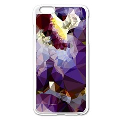 Purple Abstract Geometric Dream Apple Iphone 6 Plus/6s Plus Enamel White Case by DanaeStudio