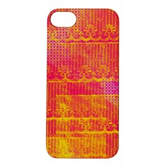 Yello And Magenta Lace Texture Apple Iphone 5s/ Se Hardshell Case by DanaeStudio