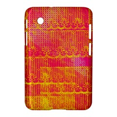 Yello And Magenta Lace Texture Samsung Galaxy Tab 2 (7 ) P3100 Hardshell Case  by DanaeStudio
