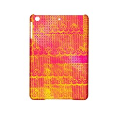 Yello And Magenta Lace Texture Ipad Mini 2 Hardshell Cases by DanaeStudio