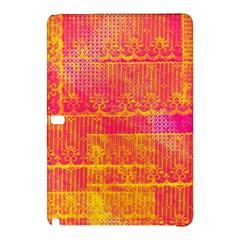 Yello And Magenta Lace Texture Samsung Galaxy Tab Pro 10 1 Hardshell Case by DanaeStudio