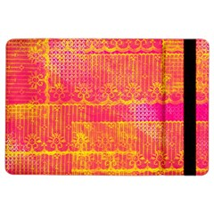 Yello And Magenta Lace Texture Ipad Air 2 Flip by DanaeStudio