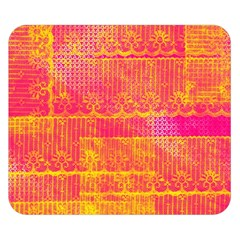 Yello And Magenta Lace Texture Double Sided Flano Blanket (small)  by DanaeStudio