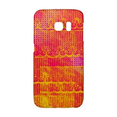 Yello And Magenta Lace Texture Galaxy S6 Edge by DanaeStudio