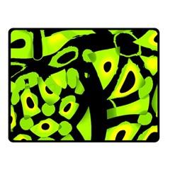 Green Neon Abstraction Fleece Blanket (small) by Valentinaart