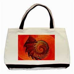 Nautilus Shell Abstract Fractal Basic Tote Bag by designworld65