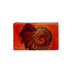 Nautilus Shell Abstract Fractal Cosmetic Bag (small)  by designworld65