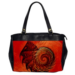 Nautilus Shell Abstract Fractal Office Handbags by designworld65