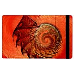 Nautilus Shell Abstract Fractal Apple Ipad 2 Flip Case by designworld65