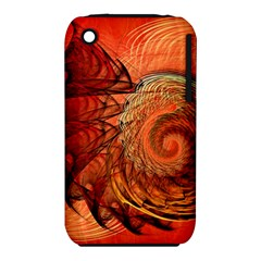 Nautilus Shell Abstract Fractal Apple Iphone 3g/3gs Hardshell Case (pc+silicone) by designworld65