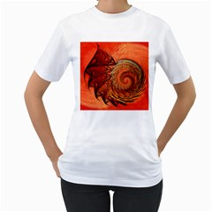 Nautilus Shell Abstract Fractal Women s T Shirt (white)  by designworld65