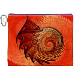 Nautilus Shell Abstract Fractal Canvas Cosmetic Bag (xxxl) by designworld65