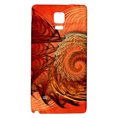 Nautilus Shell Abstract Fractal Galaxy Note 4 Back Case by designworld65