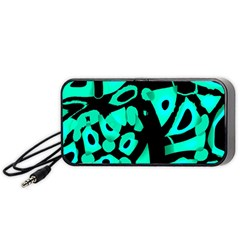 Cyan Design Portable Speaker (black)  by Valentinaart