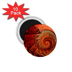 Nautilus Shell Abstract Fractal 1 75  Magnets (10 Pack)  by designworld65