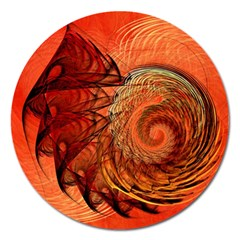 Nautilus Shell Abstract Fractal Magnet 5  (round) by designworld65