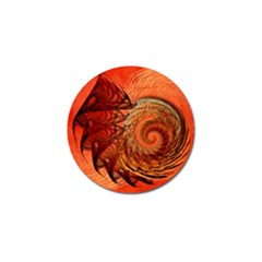 Nautilus Shell Abstract Fractal Golf Ball Marker by designworld65