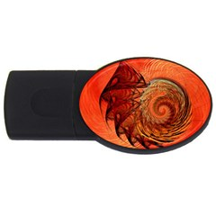 Nautilus Shell Abstract Fractal Usb Flash Drive Oval (2 Gb)  by designworld65